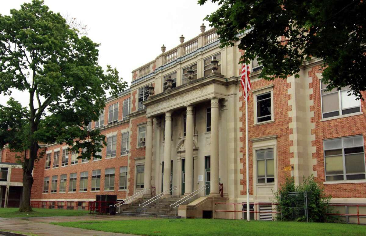 A view of Bassick High School in Bridgeport, Conn., on Wednesday, July 25, 2018.