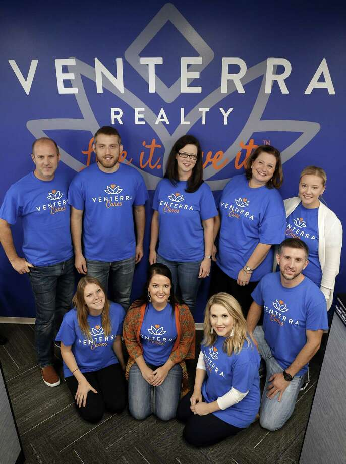 Employees (from left, back) Mark Billig, Josh Delzell, Shawna Premeaux, Melissa May, Christie Bosman, and (from left, front) Robyn Wall, Monica Garner, Bridget Sherrod and Michael Casenave at the Venterra Realty offices Wednesday, Sep. 12, 2018 in Houston, TX. Photo: Michael Wyke,  Houston Chronicle / Contributor / © 2018 Houston Chronicle