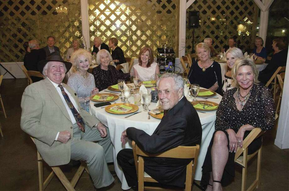 "Members of Rebel Joan of Arc Chapter, United Daughters of the Confederacy, turned out to support the Conroe Symphony Orchestra at its fundraiser ""An Enchanted Garden Evening"" on October 13 at Hodge Podge Lodge in Montgomery. Pictured RJOA Daughters of the Confederacy with respective spouses are left to right: Douglas Collings, Elaine Collings, Peggie Miller, Sandy Martin, Prospective Members Sandy Flynn, and Beverly Winfree, member Angela Graves, and Jim Graves. Other RJOA members present were Sandy Riney with spouse Dwayne Riney, and CSO fundraising chairman Lyn Howard, and spouse Carl Howard."