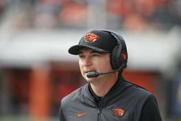 Oregon State head coach Jonathan Smith during an NCAA college football game in Corvallis, Ore., Saturday, Sept. 22, 2018. (AP Photo/Timothy J. Gonzalez)