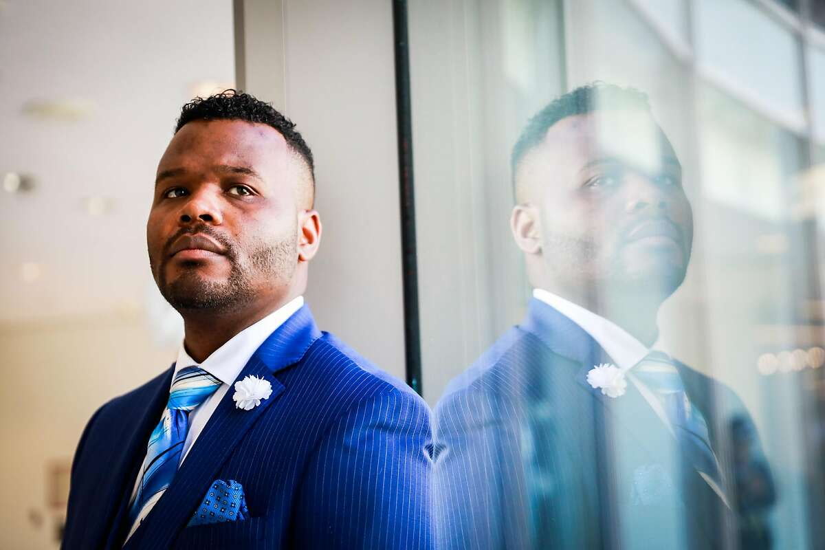Rodrick Graham, store manager at Macy's stands for a portrait at the Macy's store in San Francisco, California, on Tuesday, Oct. 16, 2018.