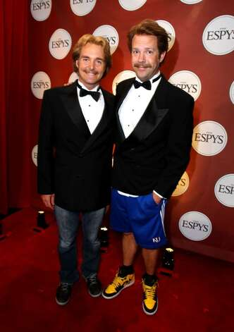 LOS ANGELES, CA - JULY 14:  (L-R) Actor Jason Sudeikis and Will Forte backstage during the 2010 ESPY Awards at Nokia Theatre L.A. Live on July 14, 2010 in Los Angeles, California.  (Photo by Alexandra Wyman/Getty Images for ESPY) *** Local Caption *** Jason Sudeikis;Zac Efron Photo: Alexandra Wyman, Getty Images For ESPY / 2010 Getty Images