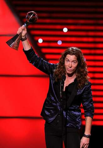 "LOS ANGELES, CA - JULY 14:  Snowboarder Shaun White receives the ESPY Award for ""Best Male Action Sports Athlete"" onstage during the 2010 ESPY Awards at Nokia Theatre L.A. Live on July 14, 2010 in Los Angeles, California.  (Photo by Kevin Winter/Getty Images) *** Local Caption *** Shaun White Photo: Kevin Winter, Getty Images / 2010 Getty Images"
