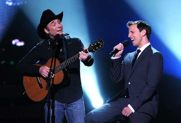 LOS ANGELES, CA - JULY 14:  Country singer Clint Black and host Seth Meyers performs onstage during the 2010 ESPY Awards at Nokia Theatre L.A. Live on July 14, 2010 in Los Angeles, California.  (Photo by Kevin Winter/Getty Images) *** Local Caption *** Clint Black;Seth Meyers Photo: Kevin Winter, Getty Images / 2010 Getty Images