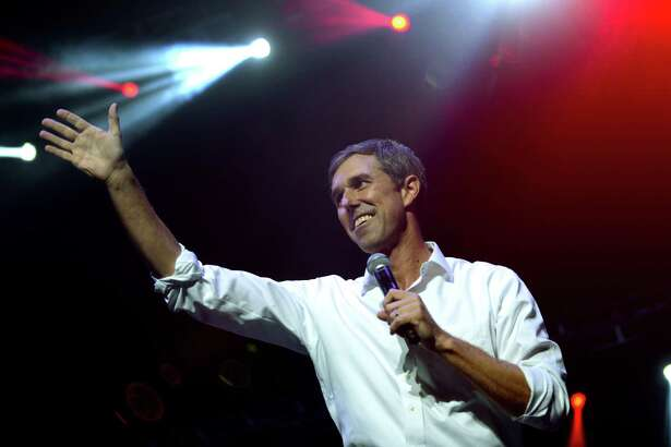 El Paso Congressman Beto O?'Rourke speaks during a rally at the Bert Ogden Arena in Edinburg on Thursday, Oct. 18, 2018. O'Rourke is running against incumbent Ted Cruz for a U.S. Senator from Texas seat. Musical groups Asleep at the Wheel, Los Tigres del Norte and Little Joe y La Familia provided entertainment.