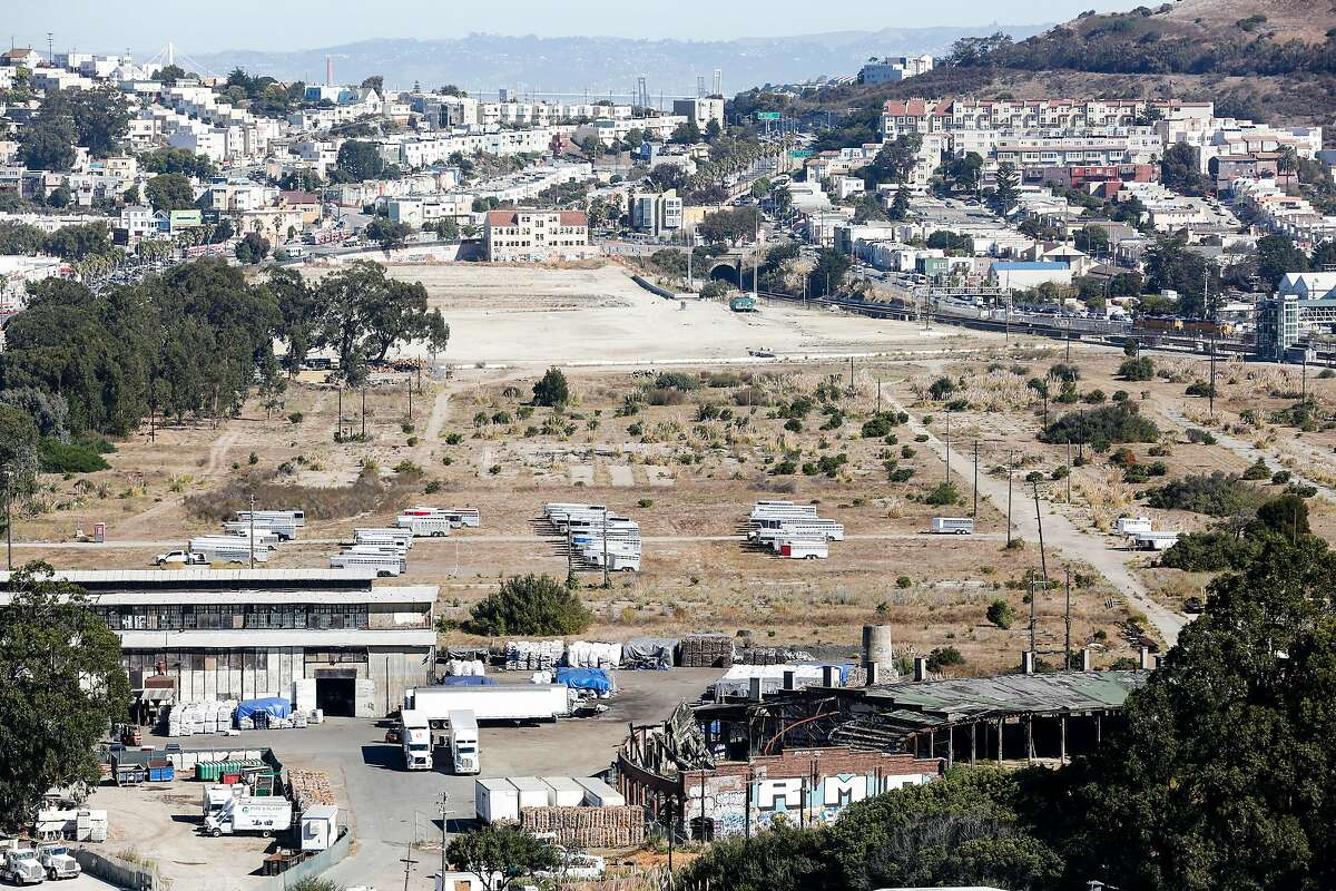 The 680 acre lot of the Baylands property is seen on Friday, October 12, 2018 in Brisbane, Calif. Measure JJ would allow about 2,000 housing units to be built in Brisbane on the 680 acre Baylands property.