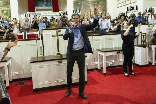 Rep. Beto O'Rourke campaigns in Dallas for the U.S. Senate. We recommend him in this race.