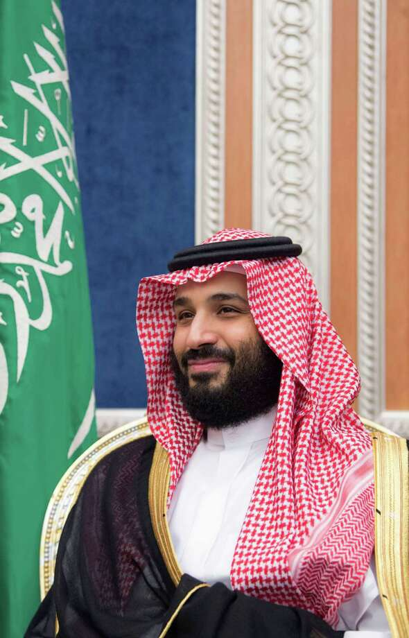 In this handout picture from the Saudi royal palace, Saudi Crown Prince Mohammed bin Salman meeting with Secretary of State in Riyadh on Oct. 16. Trump's choices are all bad on how to deal with Saudi Arabia after the apparent murder of a U.S. journalist. Photo: BANDAR AL-JALOUD /AFP /Getty Images / AFP