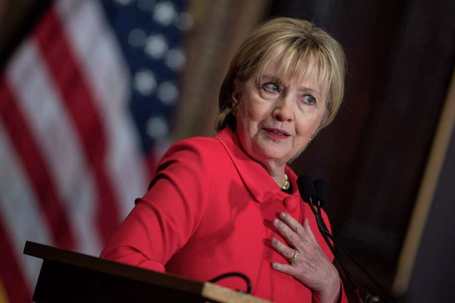 Former Secretary of State Hillary Clinton insists her husband's affair with a White House intern was not an abuse of power. She's sticking to that story, undercutting her feminist credentials — and those of their progressive supporters. Photo: Getty Images File Photo / AFP or licensors