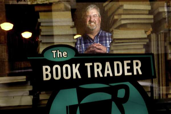 David Duda, owner of The Book Trader Cafe in New Haven, soon to celebrate its 20th anniversary.