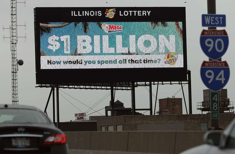 A digital billboard along I-90/94 highway in Chicago, displays the estimated Mega Millions jackpot, Friday, Oct. 19, 2018. Friday's jackpot has soared to $1 billion, the second-largest prize in U. S. lottery history. (AP Photo/Nam Y. Huh) Photo: Nam Y. Huh, Associated Press