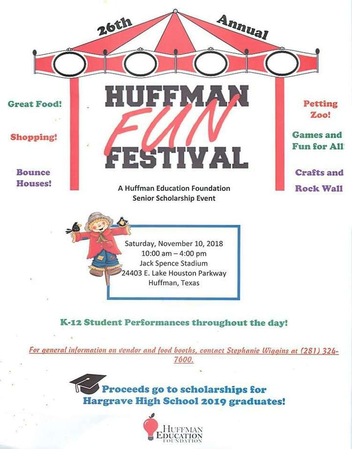 The flyer for the 26th annual Huffman Fun Festival, which will take place from 10 A.M. to 4 P.M. at Jack Spence Stadium on Saturday, November 10 Photo: Huffman ISD