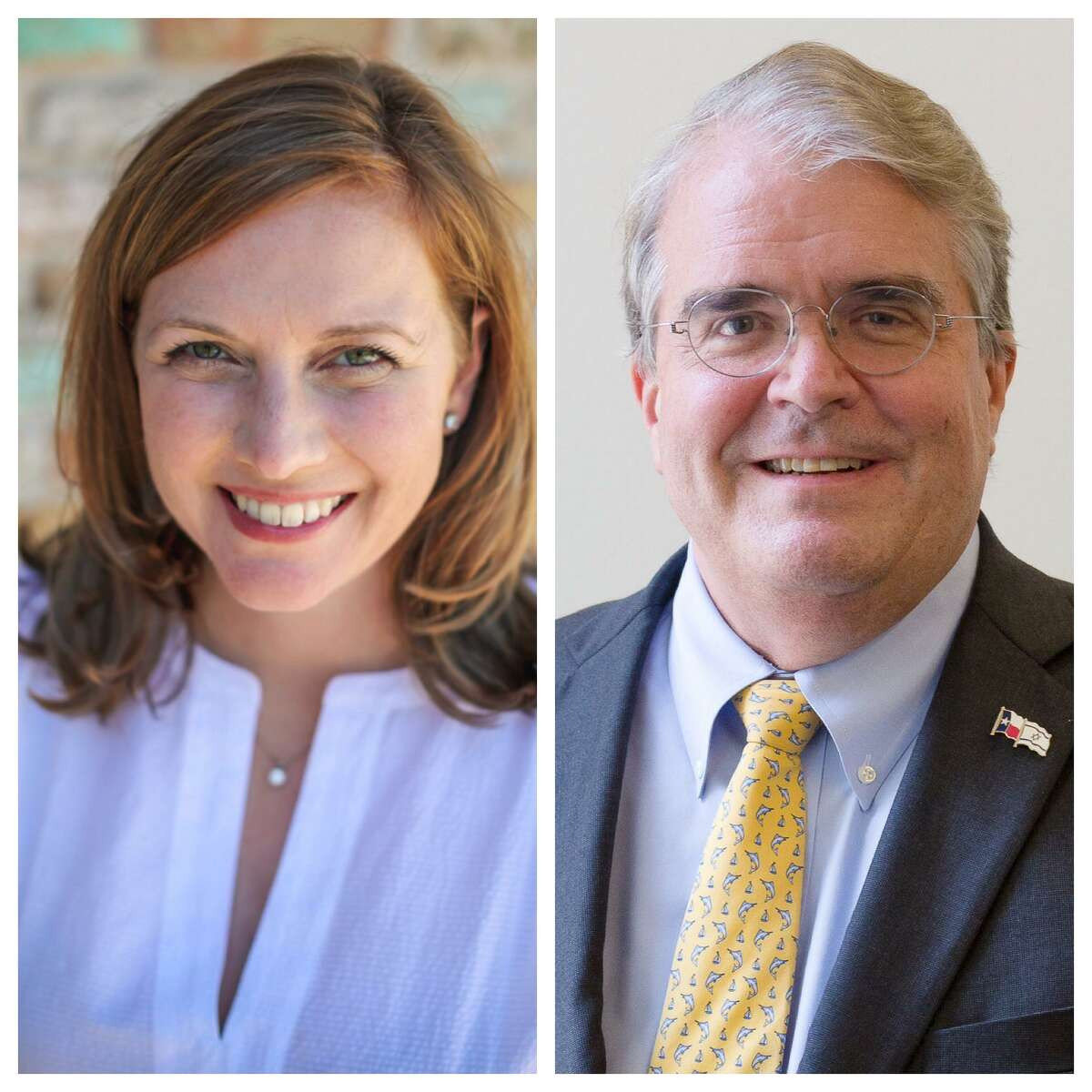 Republican U.S. Rep. John Culberson, right, is facing Democratic challenger Lizzie Fletcher in the Nov. 6, 2018 election for the 7th Congressional District in the Houston area.