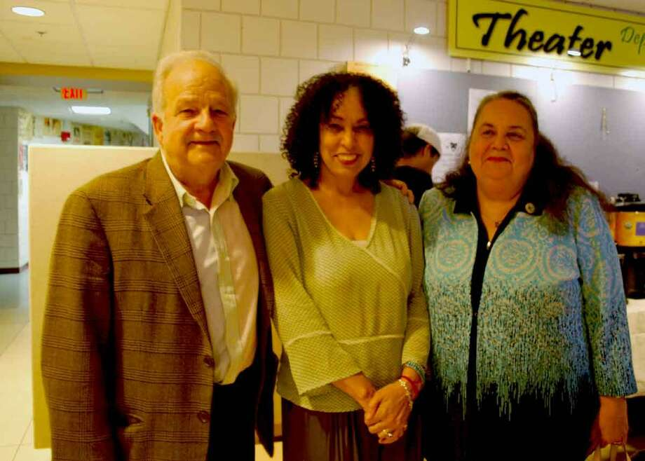 From left, Nunzio De Filippis, Dr. Marianela Medrano, and NVCC President Daisy Cocco De Filippis, Ph.D. celebrate ten years of multilingual poetry at NVCCs Confluencia on Oct. 9 on the college's Waterbury campus. Photo: Contributed Photo /