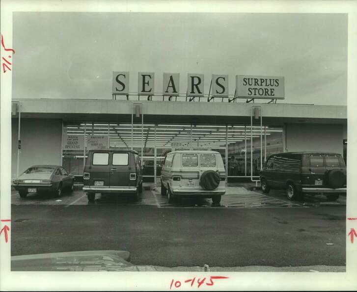 Sears Surplus storefront in Houston in 1977.