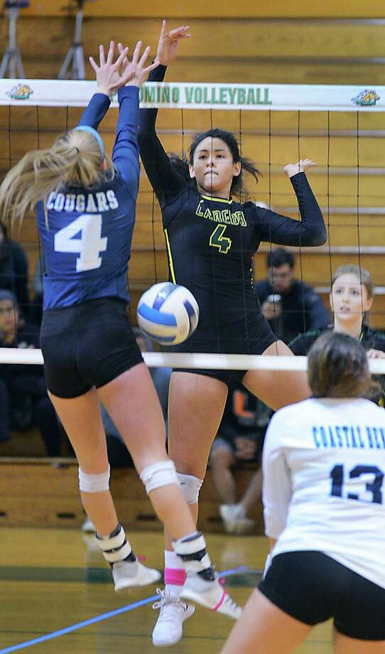 Kristi Gomez had a match-high 20 kills Saturday as Laredo College was eliminated from the Region XIV Tournament with a 3-0 loss to No. 13 Panola College. Photo: Cuate Santos /Laredo Morning Times File / Laredo Morning Times