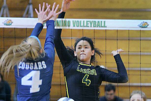 Middle hitter Kristi Gomez powered the Laredo College volleyball team offensively with 32 combined kills in the Palominos two matches Friday.