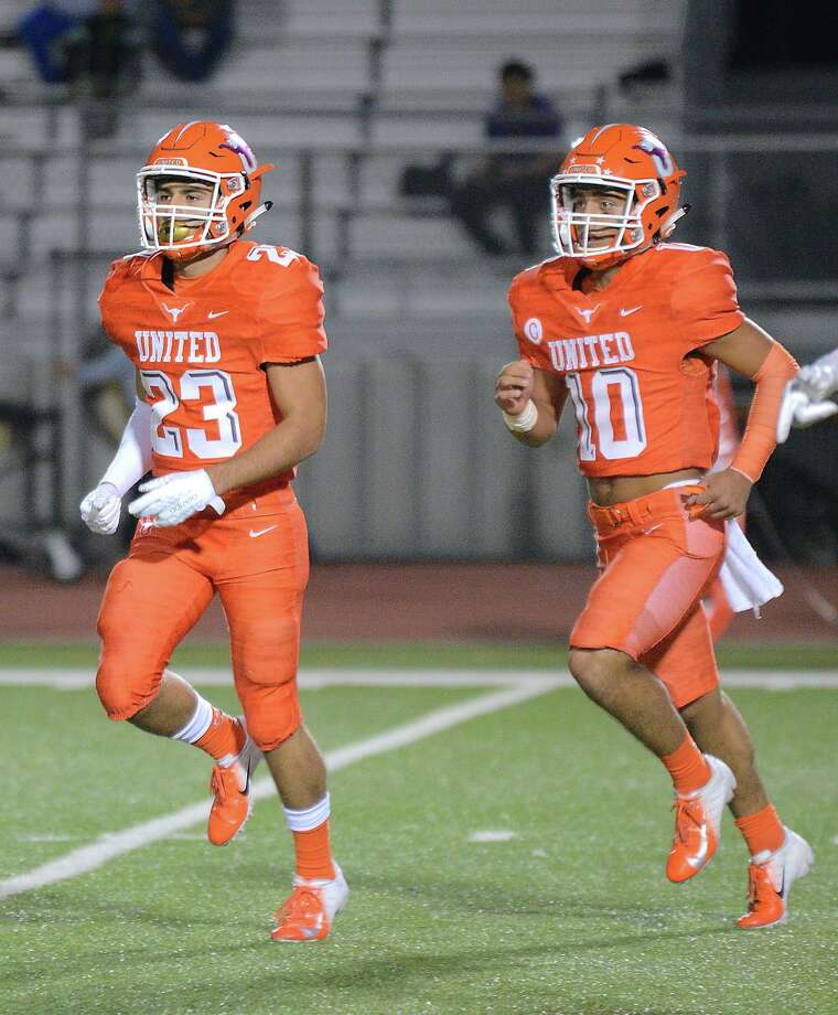 Carlos Jaime (left) and Wayo Huerta (right) have combined for 28 total scores in United's 4-1 start this season. Photo: Cuate Santos /Laredo Morning Times / Laredo Morning Times