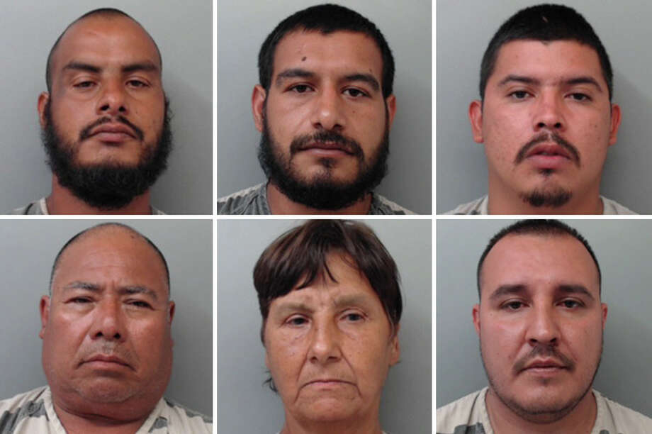 Six people were arrested for allegedly assaulting a man they accused of stealing an XBOX and a weed eater, according to Laredo police. Photo: Courtesy