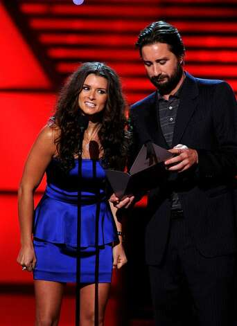LOS ANGELES, CA - JULY 14:  (L-R) Race car driver Danica Patrick and actor Luke Wilson speak onstage during the 2010 ESPY Awards at Nokia Theatre L.A. Live on July 14, 2010 in Los Angeles, California.  (Photo by Kevin Winter/Getty Images) *** Local Caption *** Danica Patrick;Luke Wilson Photo: Kevin Winter, Getty Images / 2010 Getty Images