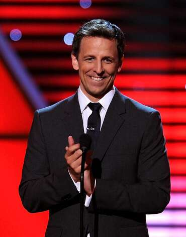 LOS ANGELES, CA - JULY 14:  Host Seth Meyers speaks onstage during the 2010 ESPY Awards at Nokia Theatre L.A. Live on July 14, 2010 in Los Angeles, California.  (Photo by Kevin Winter/Getty Images) *** Local Caption *** Seth Meyers Photo: Kevin Winter, Getty Images / 2010 Getty Images