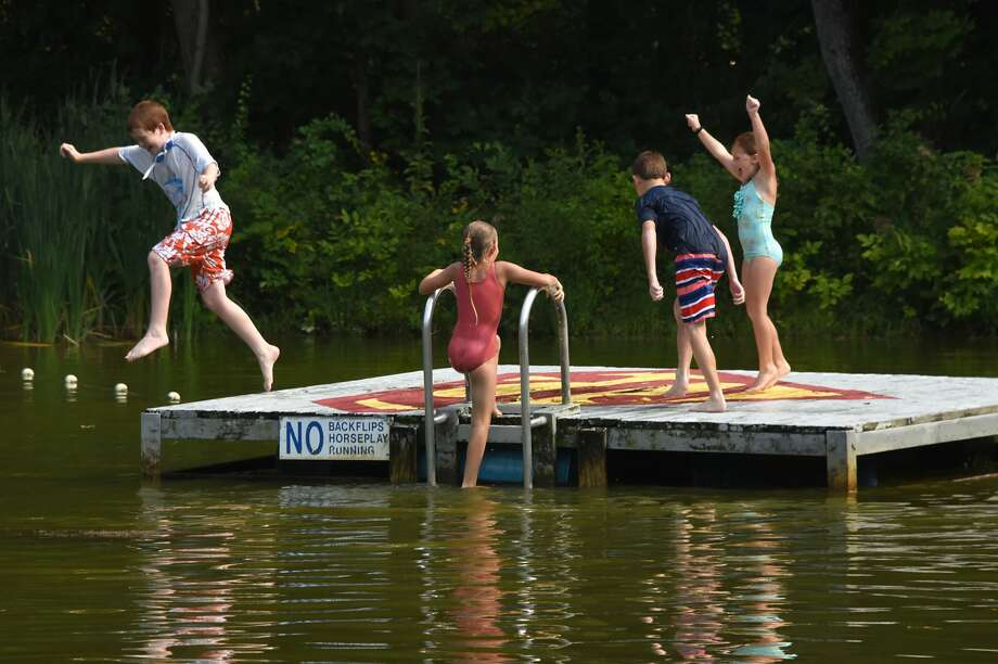 Kids swim at Little Troy Park on Wednesday, Aug. 29, 2018 in Charlton, N.Y. (Lori Van Buren/Times Union) Photo: Lori Van Buren/Albany Times Union