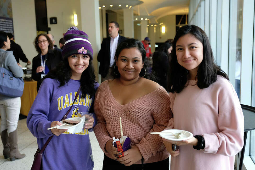 """Were you Seen during the kickoff for the University at Albany's Homecoming weekend and """"This is Our Time"""" giving campaign on Friday, Oct. 19, 2018?"""