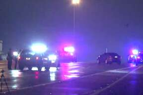 A man was shot and killed in his car while traveling west on the 610 Loop in southwest Houston, causing the car to crash into a wall along the freeway.
