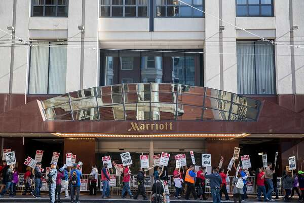 SF Marriott hotel strike costs conference $300,000 and counting
