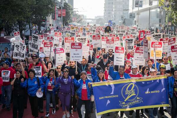 SF Marriott hotel strike costs conference $300,000 and