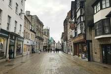 A recent photo of High Street in Stamford, England.