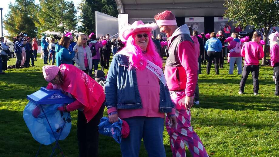 Scenes from Saturday's American Cancer Society Making Strides Against Breast Cancer awareness/fundraiser walk in downtown Midland Photo: Fred Kelly/fred.kelly@mdn.net