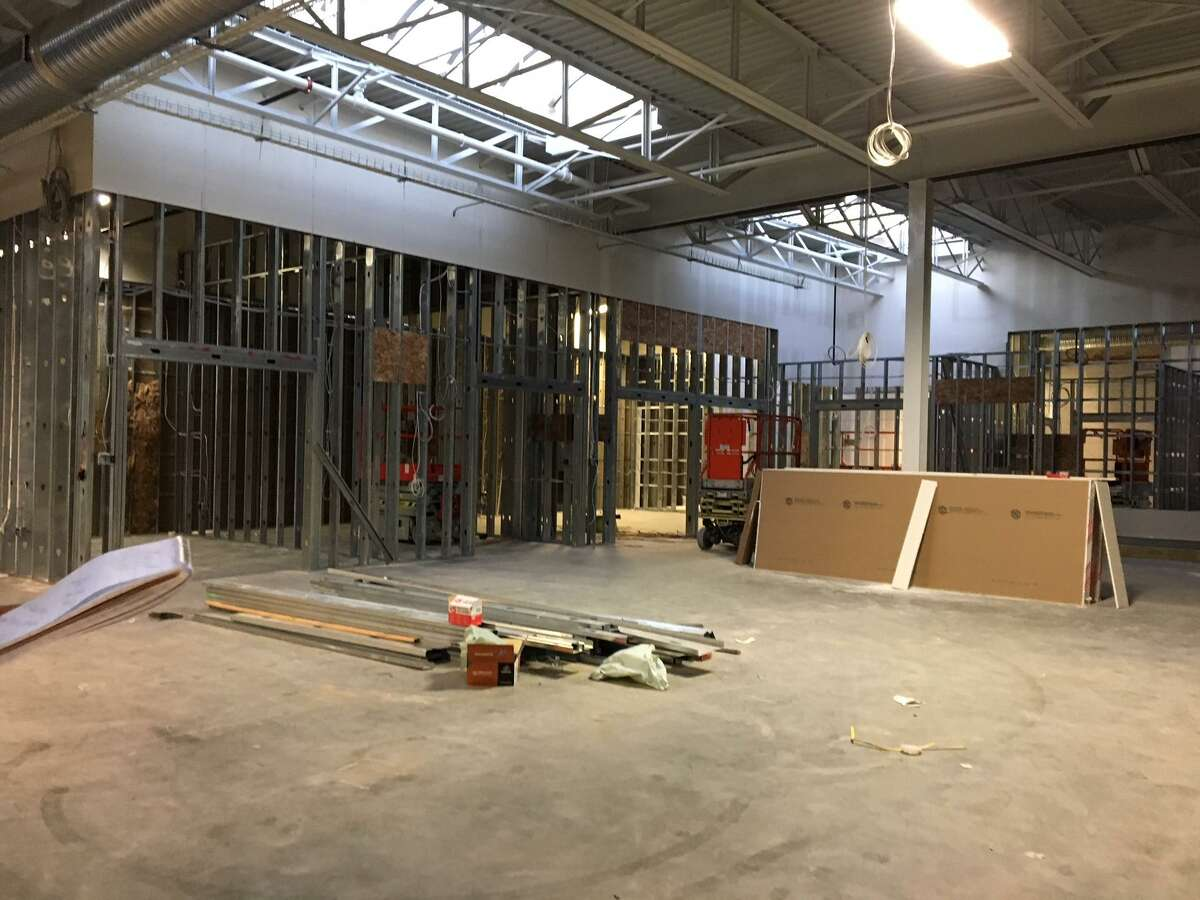 The site of the Holberton School at the District is under construction.