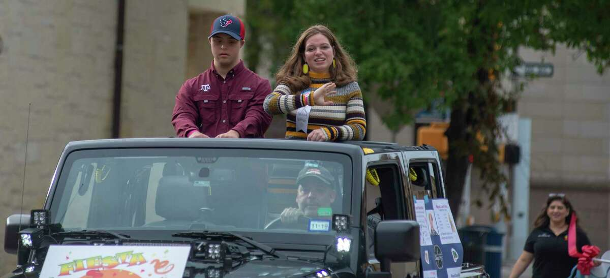 Cory Wyckoff and Hanna Watson participate in the inaugural abilitySTRONG Parade on Saturday, October 20, 2018.