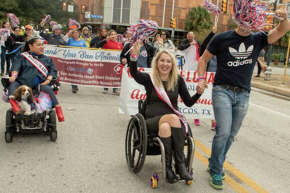 Ms. Wheelchair America 2019, Karen Roy,  participates in the inaugural abilitySTRONG Parade on Saturday, October 20, 2018.