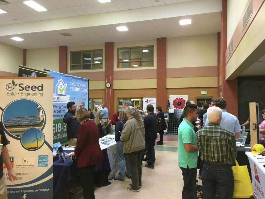 Sixteen speakers and 44 different organizations came to the Renewable Energy and Sustainable Living Fair at the Doane Stuart School in Rensselaer on Oct. 20.