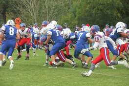 Coginchaug/Hale Ray/East Hamption put Lewis Mills in an early hole before the Spartans fought back in a Blue Devil win at Lewis Mills High School Saturday afternoon.
