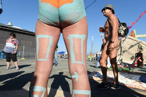 Human Connection Arts hosted a Bodypainting Day at Potrero Power Station in San Francisco on Saturday, October 20, 2018.