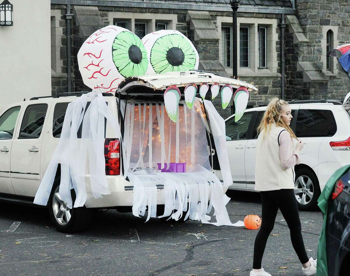 Steve Summerton of Greenwich said he decorated his vehicle as a mummy for the