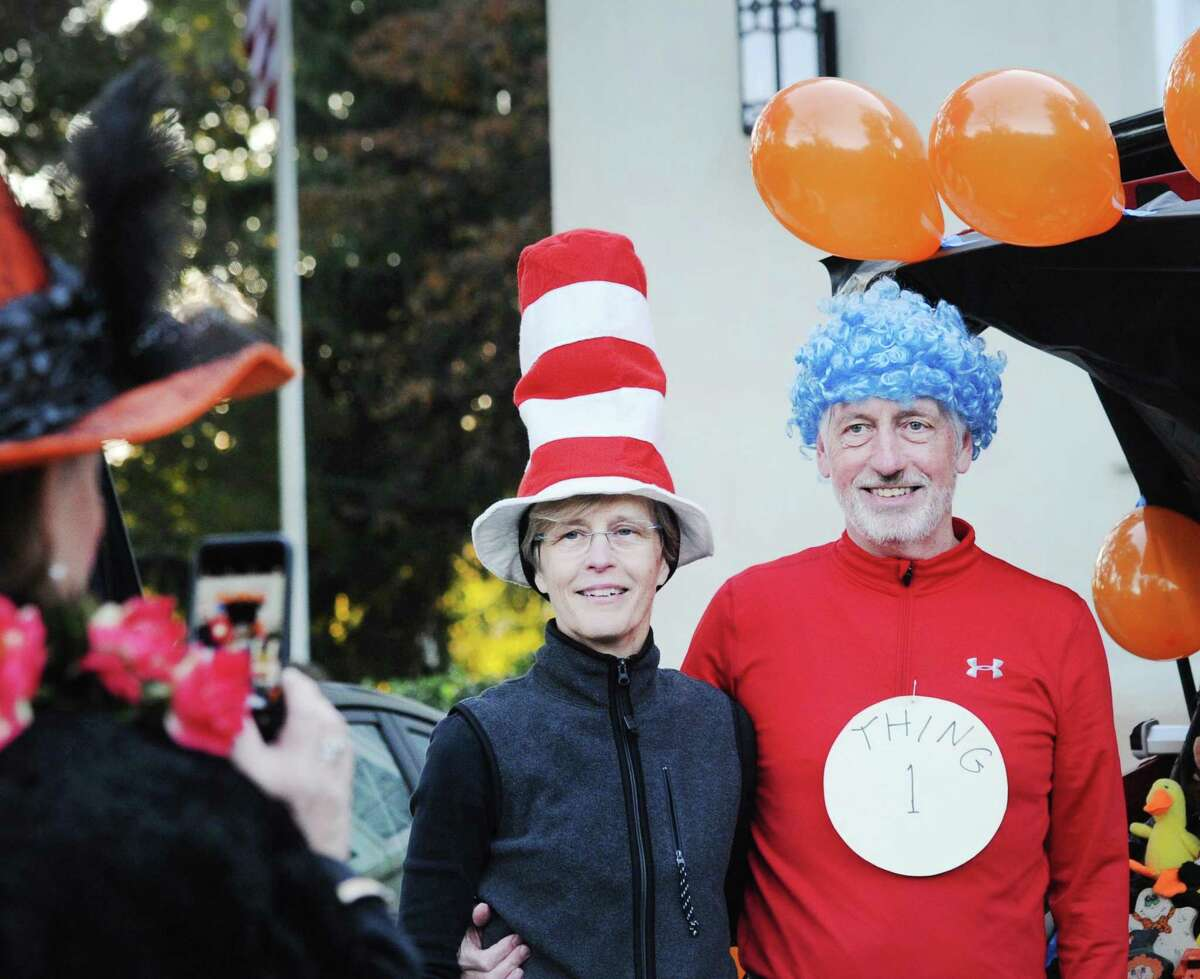 Husband and wife, Rick and Marilyn Derr of Greenwich came as Dr. Seuss characters