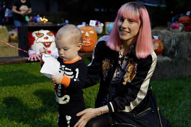 Apollo and Rachel Williams during the Halloween event at the John Jay French House on Saturday. Photo taken Saturday 10/20/18 Ryan Pelham/The Enterprise