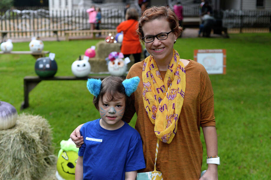 Liam and Kelli Mahan during the Halloween event at the John Jay French House on Saturday. 
