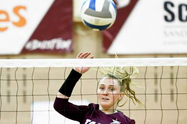 Annie Deininger had a game-high 14 digs Thursday in TAMIU's 3-1 loss at TAMUK.