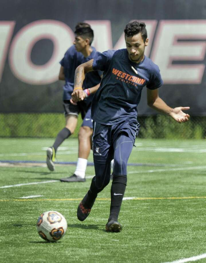 Chauncey Allers during soccer practice at Western Connecticut State University,Tuesday, August 21, 2018. Photo: Carol Kaliff / Hearst Connecticut Media / The News-Times