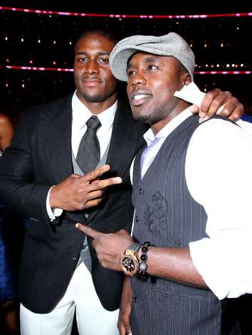LOS ANGELES, CA - JULY 14:  NFL player Reggie Bush and boxer Andre Berto attend the 2010 ESPY Awards at Nokia Theatre L.A. Live on July 14, 2010 in Los Angeles, California.  (Photo by Alexandra Wyman/Getty Images for ESPY) *** Local Caption *** Reggie Bush;Andre Berto Photo: Alexandra Wyman, Getty Images For ESPY / 2010 Getty Images