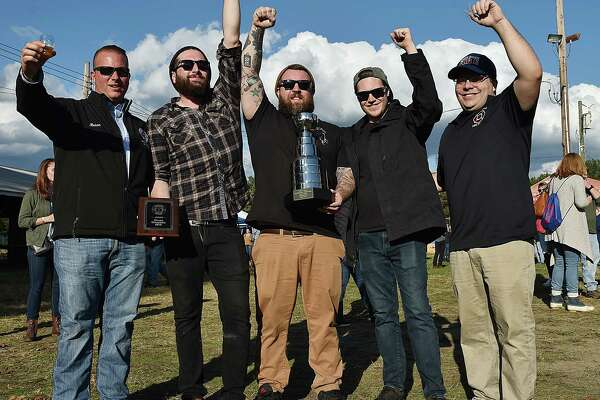 The North Haven Professional Firefighter's Association first annual Connecticut Brew Cup Saturday, October 20, 2018, at the North Haven Fairgrounds at 290 Washington Avenue in North Haven. Firefighter and event chairman Rich Filosi said all the proceeds will be donated to the Muscular Dystrophy Association. Coventry resident Louis Ballestos, 8, the Connecticut Ambassador of the MDA attended Brew Cup 2018.