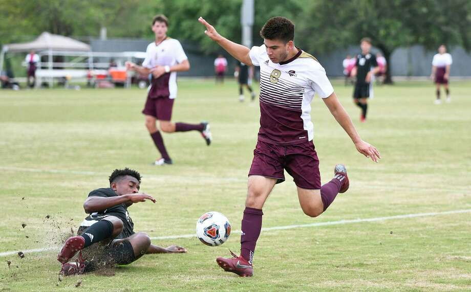 David Martinez and the Dustdevils were picked to finish seventh out of 11 teams in the Lone Star Conference men's soccer preseason poll released Tuesday. Photo: Danny Zaragoza /Laredo Morning Times File / Laredo Morning Times
