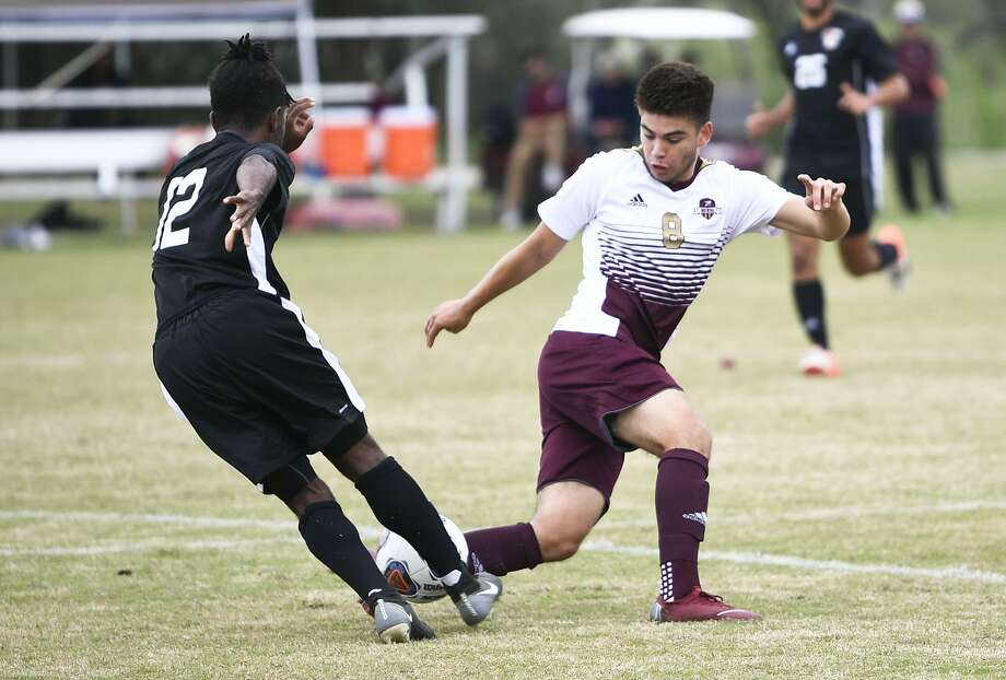 David Martinez and the TAMIU soccer team are in possession of the sixth and final Heartland Conference tournament spot with two important road games left this week. They take on rival and South division leader St. Mary's Thursday and fourth-place Rogers State Saturday. Photo: Danny Zaragoza /Laredo Morning Times File / Laredo Morning Times