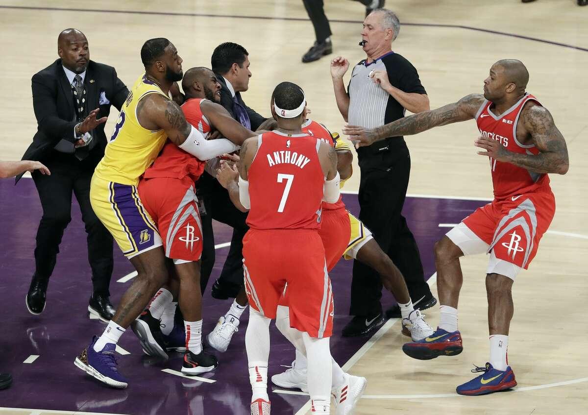 Oct. 20:Rockets 124, Lakers 115 Point leaders Rockets:James Harden (36) Lakers:LeBron James (24) Record:1-1