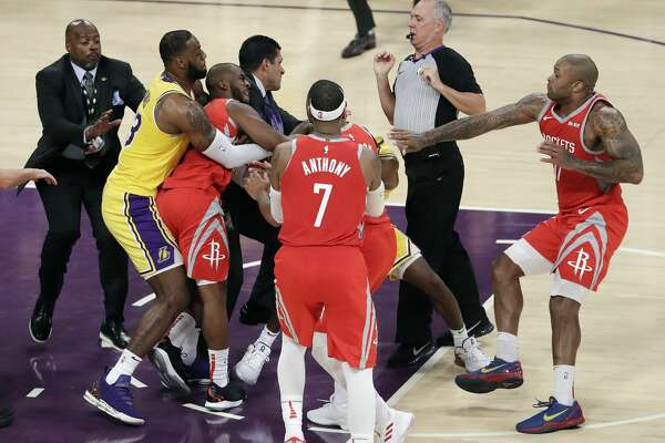 0eeaeb04f0 3of83Oct. 20: Rockets 124, Lakers 115 Point leaders Rockets: James Harden  (36) Lakers: LeBron James (24) Record: 1-1Photo: Marcio Jose  Sanchez/Associated ...